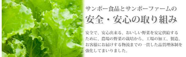 サンポー食品とサンポーファームの野菜づくりへの取り組み。