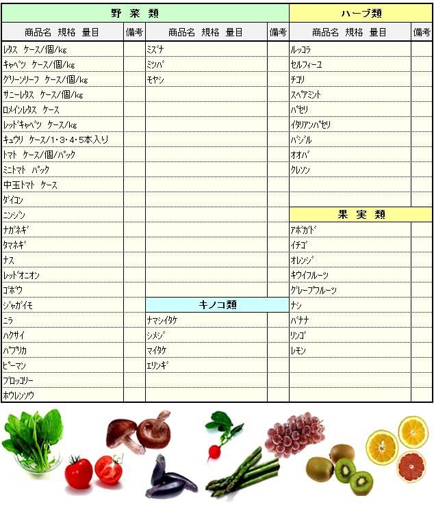 ホール野菜